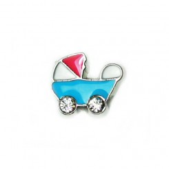 Blue Pram with Pink Top