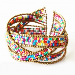 Rainbow Twisted Cuff