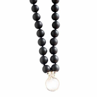 Black Onyx Ball Necklace 26 inch (66cm)