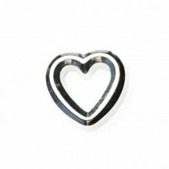 Heart Outline - Silver Tone