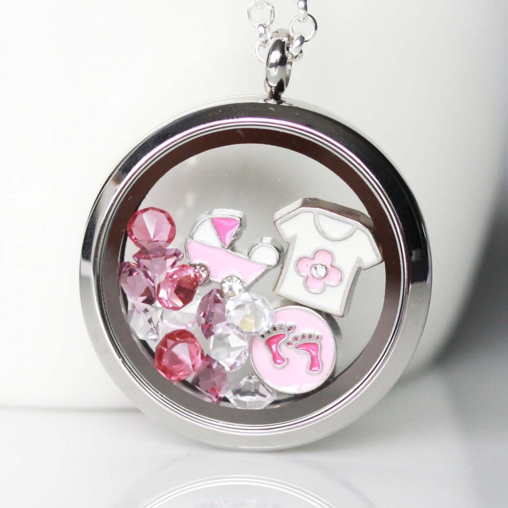 com s sterling baby jewelry silver amazon necklace and lockets childrens children dp polished locket heart