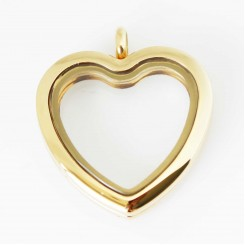 Yellow Gold Heart Locket - Tall