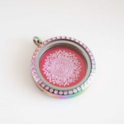 Majestic Mandala - Locket & Plate Set - 3cm