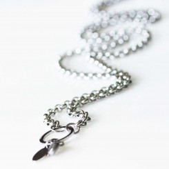 Rolo Necklace - Silver Tone - With Dangle Ring