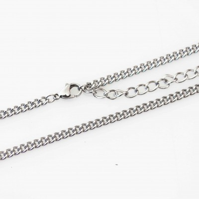Curb Necklace - 24 - 26 inch (61-66cm)