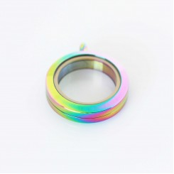 Rainbow Locket Screw Top - 2.5cm