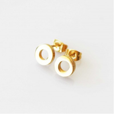 Circle Earrings - Gold Tone