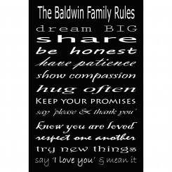Family Rules Print - 8x12 inch (jpeg File)