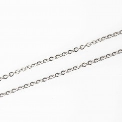 "Fine Cable Necklace - Silver Tone - 20"" (50.8cm)"