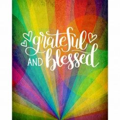 Grateful & Blessed (jpeg file only) 8x10 inch