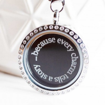 Because every charm tells a story - Locket and Plate Set - 3cm wide