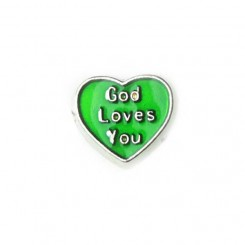 God loves you - Green Heart