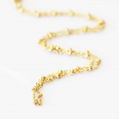 Ball Link Necklace- 20 inch (51cm)  - Gold Tone