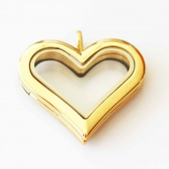 Yellow Gold Heart Locket - Short