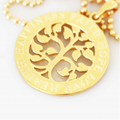 Tree of Life Pendant and Necklace Set - Gold Filled