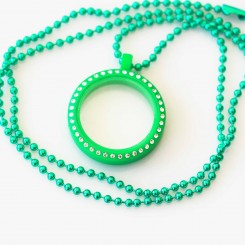 Kids Locket & Necklace Set - Green