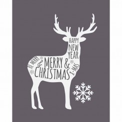Christmas Deer - Grey (jpeg File Only) 8x10 inch