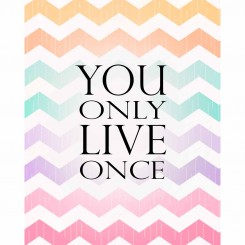 You only live once (jpeg file only) 8x10 inch