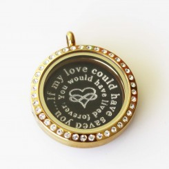 If my love could have saved you - Locket and Plate Set - 3cm