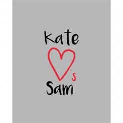 Kate Loves Sam (Add your own names) jpeg file only - 8x10 inch