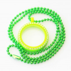 Kids Locket & Necklace Set - Lime Green