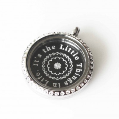 It's the Little Things in Life - Locket & Plate Set - 3cm