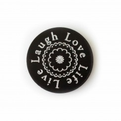 Love Life Live Laugh - Plate - to fit 3cm wide locket