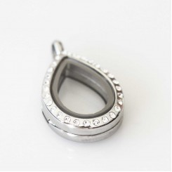 Silver Bling Small Teardrop Locket
