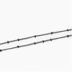 Station Necklace - 17-19 inch adjustable - Black Tone