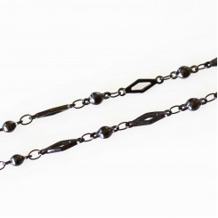 Diamond Link Necklace - 32 inch (80cm) Black