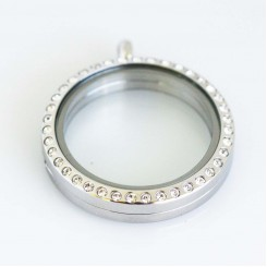 Silver Bling Magnetic Locket