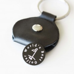 Golf Marker with Keyring Pouch