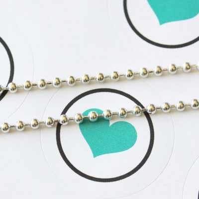 3mm Ball Chain Necklace - Sterling silver FROM $30 click for more length options.