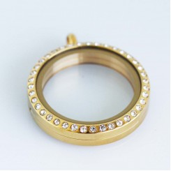 Yellow Gold Bling Magnetic Locket