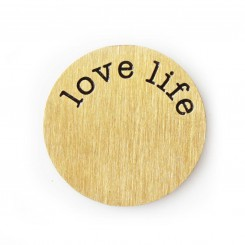 Love Life Plate - Copper Tone
