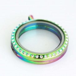 Rainbow Bling Magnetic Locket