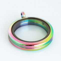 Rainbow Magnetic Locket