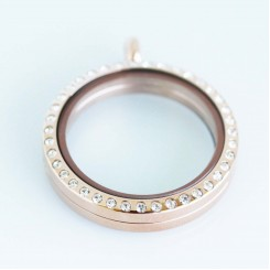 Rose Gold Bling Magnetic Locket