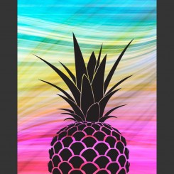 Colourful Pineapple (jpeg file) 8x10 inch