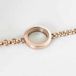 Locket Bracelet - Rose Gold