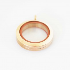 Rose Gold Screw Top Locket - 2.5cm