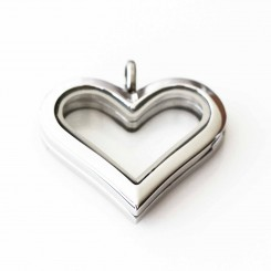 Silver Heart Locket - Short