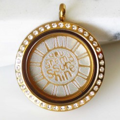 You Are My Sunshine - Locket and Plate Set - 3cm