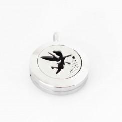 Perfume/Essential Oil Locket - Tinkerbell - Silver Tone - 2cm