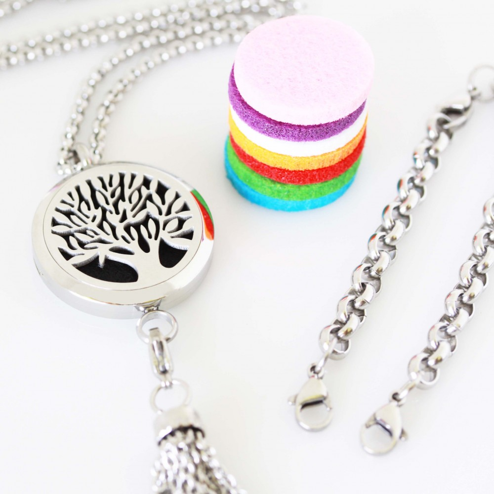necklace prodyct lockets washable stainless essential aromatherapy title london aromaluxe insert grade jewelry oil image surgical steel pads oils life chain charms gold products diffuser tree aromalove of hypoallergenic