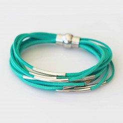 Turquoise Suede Bracelet