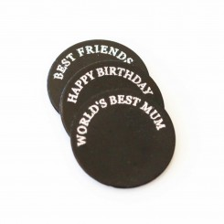 Top Half Engraved Plate - Choose Your Wording - to fit 3cm Lockets